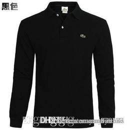 ae46036bc04 Mens Designer T Shirt Fashion man long Sleeved Lapel Shirts Neck T-shirt  Summer Breathable Button Pullover T-shirt Men Patchwork Tops Tees