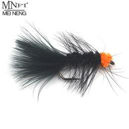 ovos da mosca Desconto Isca inseto MNFT 10 PCS 6 # Fly Pesca Inseto Isca Laranja Ovo Chupando Sanguessuga Lean Fleamer Artificia Ninfa Cor Preta Marabu Flashabou