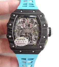 Lunette rouge en Ligne-Baodewatches offre Hot AAA luxe automatique Mens Watch rm11-03 Lum rouge diamants lunette montre en caoutchouc Saphir original fermoir Mens Watches