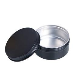 2019 embalagem de cosméticos de alumínio 80 ml Vazio De Alumínio Caixa De Presente Cosméticos Recipientes Pote Lip Balm Jar Tin Para Creme Pomada Mão Creme Embalagem Caixa embalagem de cosméticos de alumínio barato