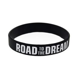 2019 bracciali bieber Strada per il logo di sogno Motivazionale Bracciale inchiostro Riempito Inspirational braccialetto dei braccialetti in silicone Rubber Band Elastica Braccialetti Jewelry