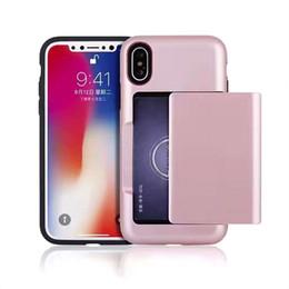 2019 handy-slip-fall Für iphone 6 7 8 x plus neue design karte handy case rutschfeste pc tpu hart für samsung s8 plus phone cases günstig handy-slip-fall