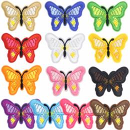 2019 patch di ferro a farfalla 1 Pz Nuove toppe farfalla per abbigliamento Ferro su appliques ricamate Accessori abbigliamento fai-da-te Patch per badge in tessuto abbigliamento patch di ferro a farfalla economici