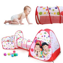 Bola de tela suave online-Carpas de juguete Kids Crawling Play Carpa para Baby Cloth House Niños Toy Ball Pool para Ocean Ball Play Soft Outdoor Fun Sports Tent SH190907