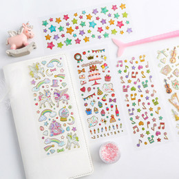 2020 decorazioni coreane diy 12pcs / pack Corea trasparente regalo di DIY scherza Scrapbooking adesivi per la decorazione Photo Album decorazioni coreane diy economici