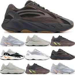 Mejores zapatillas para correr online-Geode Static 3M 700 V2 Salt Inercia Wave Runner Kanye West Zapatos para correr Hombres Mujeres OG Gris sólido Malva Mejores Atletismo Zapatillas 36-46