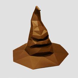 Canada Harry Potter branche chapeau créatif ornements géométriques en trois dimensions décoration papier modèle de Gryffondor DIY Halloween COS accessoires chapeaux cheap geometric ornaments Offre
