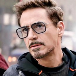 beam sunglasses Promo Codes - Cross-border Iron Man sunglasses European and American trends Robert Downey Jr. glasses men's personality double beam sunglasses