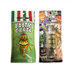MARIO EXOTIC Carts Embalagem Para A1003 Vazio Cartuchos Da Caneta Vape 1 ml de Cerâmica Dab Wax Óleo Atomizador Vaporizador Para 510 Bateria de Tópicos Ecig de