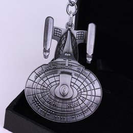 retro schlüsselanhänger  Rabatt Star Trek Keychains Spacecraft Pendant Keyrings Retro Movie jewelry Key holder Charms Key Chain Men Cosplay