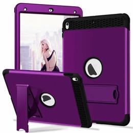 Standı Zırh Hibrid Sert PC Silikon Kılıf Ağır Defans Ipad Için Mini 1 2 3 4 IPad Pro 10.5 Tablet Için Lüks Petek Cilt Kapak cheap silicone tablet stands nereden silikon tabletler tedarikçiler