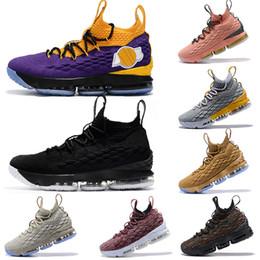 eb9e00a3a6d8 lebron james LBJ LAKERS 15 Mens scarpe da ginnastica scarpe da  pallacanestro vino Hollywood EP nero bianco BHM Ghost Designer scarpe da  ginnastica ...