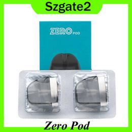 Peças sobressalentes para cigarros on-line-Vaporesso Zero Pod Cartucho de 2 ml 2 pcs pacote PCTG Principal Material para Zero Starter Kit E Cigarro Pod Peça De Reposição