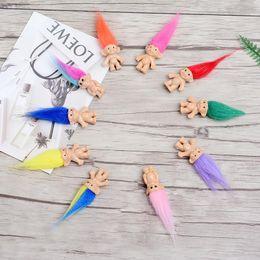 poupées de masha Promotion Coloré Cheveux Troll Poupée Membres De La Famille Papa Maman Bébé Garçon Fille Leprocauns Barrage Trolls Jouet Cadeaux Heureux Amour Famille