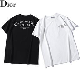 Mens Designer T Shirt Luxury Letters T-Shirt Loose Casual Stampa Girocollo Maniche corte Top Sell Moda Uomo T Shirt Taglia S-2XL.B43 da