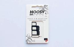 4 en 1 Noosy Nano Micro Adaptateur Éjecter Broche Pour Iphone 4 4S 5 5C 5S Galaxy S4 S5 Note 2 Note 3 Avec Sim Carte Retail Package Meilleure Qualité ? partir de fabricateur