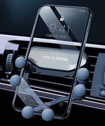 gps de montagem automática Desconto Suporte universal do telefone do carro do auto-aperto da gravidade da montagem do carro do respiradouro de ar para telefones espertos