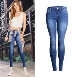 casual bleistift hose für mädchen Rabatt Frauen zeichnen Hosen lange Jeans dünnes Ausdehnungsdenim-dünne Hosen-beiläufige Tänzer-Mädchen-Hosen an