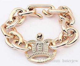2019 brazalete fino de oro Pulseras Brazaletes Pulsera de cadena de aleación chapada en oro Infinito Snap Hombres Joyas Pulseras de oro fino brazalete fino de oro baratos