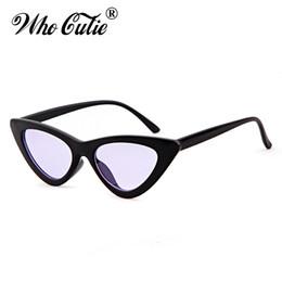 lentes de lentes vermelhas atacadistas Desconto Atacado-Triângulo Pequeno Olho De Gato Óculos De Sol Sexy Mulheres Ocean Film Lens Cateye Quadro Clássico Preto Vermelho Matiz Óculos De Sol Polit Optical Shades