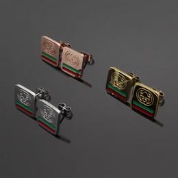 2019 anel de fita vermelha atacado Chegada nova Top Qualidade Presente De Casamento G Carta de Aço Inoxidável 316L Design de Moda Brinco Banhado A Ouro Studs Para As Mulheres Preço de Atacado