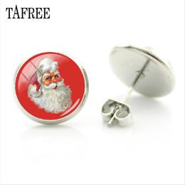 orecchini a vite Sconti TAFREE Boutique New Fashion Women Stud orecchino di Babbo natale bei gioielli di natale orecchino di natale per i regali delle donne del capretto J223