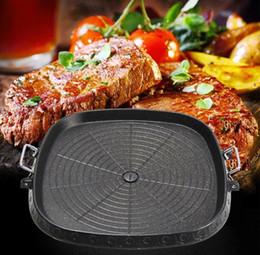 Carré coréen Maifan barbecue Teppanyaki barbecue plaque de cuisson plaque chauffante cuisinière poêles anti-adhésives ustensiles de cuisine 32x32cm ? partir de fabricateur