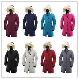 Kostenloser Versand Winter ROSSCLAIR Parker Mantel Outdoor Kanada dicke warme Daunenjacke Damen langen Abschnitt Slim winddicht Kapuze Daunenparkas