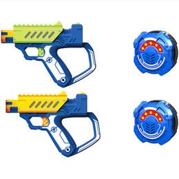 Arma elétrica kid on-line-Silverlit BATALHA OPS Gun Boy infravermelhos Brinquedos elétricos Laser Gun Simulação Equipage Set Crianças Toy Guns 8Y + 07
