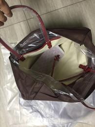 2019 malha de diamante Nova marca de treliça de diamante das mulheres grande capacidade da bolsa de compras do sexo feminino grande saco pu macio designer bolsa de ombro 46 cm e 55 cm malha de diamante barato