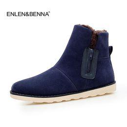Scarpe invernali belle online-Nice Men Boots 28-55 Winter Boots Men Warm Shoes Snow Casual With Short Plush Stivaletti High Top Rubber Zipper Men Shoes