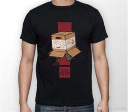 Chemises à engrenages métalliques en Ligne-2018 style été t-shirt engrenage en métal solide pensez à l'intérieur de la boîte serpent MGS unisexe t-shirt