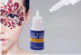 gel couleurs parfaites Promotion NA049 3g Séchage rapide Nail art pointe de la colle glitter UV acrylique strass décorations ongles colle faux bout outil de manucure