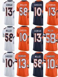 53b83dac3d283 Juego de hombre Jersey Denver 18 Peyton Manning 58 Von Miller Broncos   10  Emmanuel Sanders   12 Paxton Lynch 88 Demaryius Thomas Orange