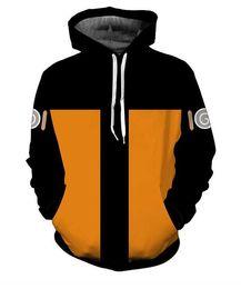 tee-shirt jaune à manches longues Promotion NARUTO UCHIHA CLAN Mode Cool Sweats à Capuche Hommes Femmes 3D Imprimer Jaune Tee Style Chaud Streetwear Tops Manches Longues