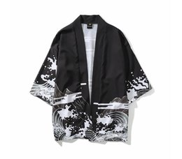 Argentina Verano para hombre Kimono Ropa japonesa Streetwear Casual Kimonos Chaquetas Harajuku Estilo de Japón Cardigan Outwear Nueva moda supplier japanese fashion kimono Suministro