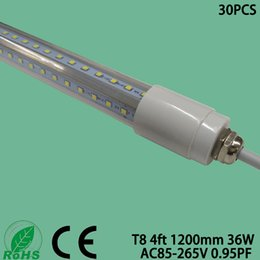 Tubo led impermeável t8 on-line-T8 4ft 1200mm IP65 Waterproof o lúmen alto conduzido fluorescente da luz 36W da lâmpada do tubo com CE e Rohs aprovados