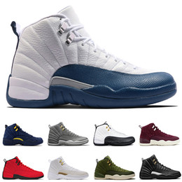 reputable site 79442 44cc6 Vente en gros 12 12 s Playoffs chaussures de basket-ball hommes XII 12S  Michigan Wings OVO Noir Blanc Noir Nylon hommes baskets de sport femmes  US7-13