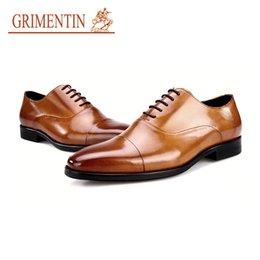 9bd3d8833177e GRIMENTIN Hot sale high grade mens dress shoes fashion Italian designer men  oxford shoes genuine leather formal business men shoes size 11