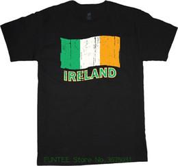 2019 bandierine irlandesi T Shirt Uomo Estate Casual T-shirt grande e alta Irish Flag Ireland Shirt T-shirt alte da uomo bandierine irlandesi economici