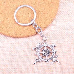 Deutschland New Fashion Kompass Tier Löwe Libelle Hirsch KeyChain Handmade Metal Keychain Party Geschenk Schmuck 28 * 34mm cheap metal gift compass Versorgung