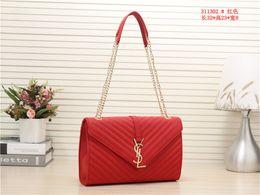 tasche goldene kette Rabatt 2019 Classic L Flap Bag Frauen Plaid Chain Bag Damen Luxus hochwertige Handtasche Fashion Designer Geldbörse Schulter Messenger Bags