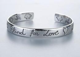 G joyería de plata online-Diseñador de lujo clásico G Style Women Bracelet Blind For Love 925 Sterling Silver Bracelt Flower Heart Bangle Bracciali Couple Jewelry Gift