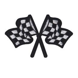 Patch brodé voiture de course drapeaux coudre le fer sur broderie correctifs Badges pour sac Jeans Chapeau T Shirt DIY Appliques Artisanat Décoration ? partir de fabricateur