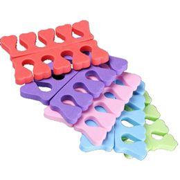 forma dedo Desconto Nail Art Toe Separator Forma Macia Esponja Toe Separadores Dedo Spacer Para Manicure Pedicure Ferramentas Prego HHA335