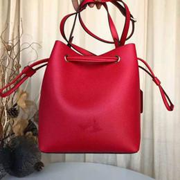 Bolsas de viaje de vacaciones online-Diseñador de las mujeres del cubo del bolso de hombro Clásico Dama color sólido Crossbody bolsos de lazo mano del hombro bolsa de viaje de vacaciones Bucket el / 4