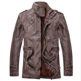 casacos de casacos Desconto Novo inverno mens padrão Europa jaqueta de couro preto biker revestimento de couro Rock n roll Jaqueta para o Homem shearling PU jaqueta De Couro