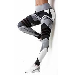 entrenamiento de imprenta Rebajas Polainas de impresión digital 3D Mujeres bloques irregulares de color, Leggings de elasticidad de secado rápido legging Entrenamiento físico