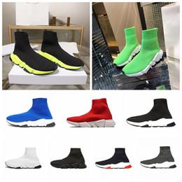 Calcetines de descuento online-Calcetín Hombres Hombres Diseñadores de lujo Zapatillas de deporte Speed Trainer 2019 Descuento Calcetines de punto Venta caliente Zapatillas de moda Diseñador de lujo nuevo color