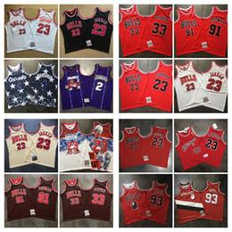 Telas vintage para online-Hombres Jóvenes de baloncesto de la vendimia Jersey 2 Leonard 1 Hardaway 33 Pippen 91 Rodman 23 JordanJersey denso AU Tela jerseys Negro